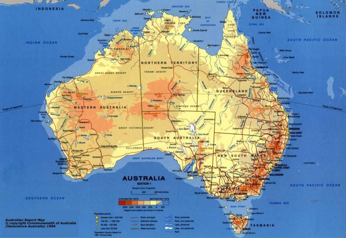 Australia E Nuova Zelanda Cartina.Atlante Australia Mappa Mappa Atlas Of Australia Australia E