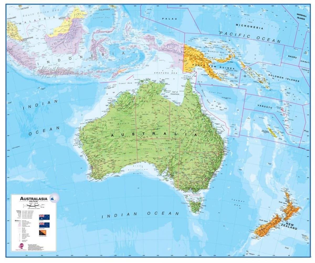 Australia E Nuova Zelanda Cartina.Mappa Di Australia Mostra Mappa Di Australia Australia E Nuova