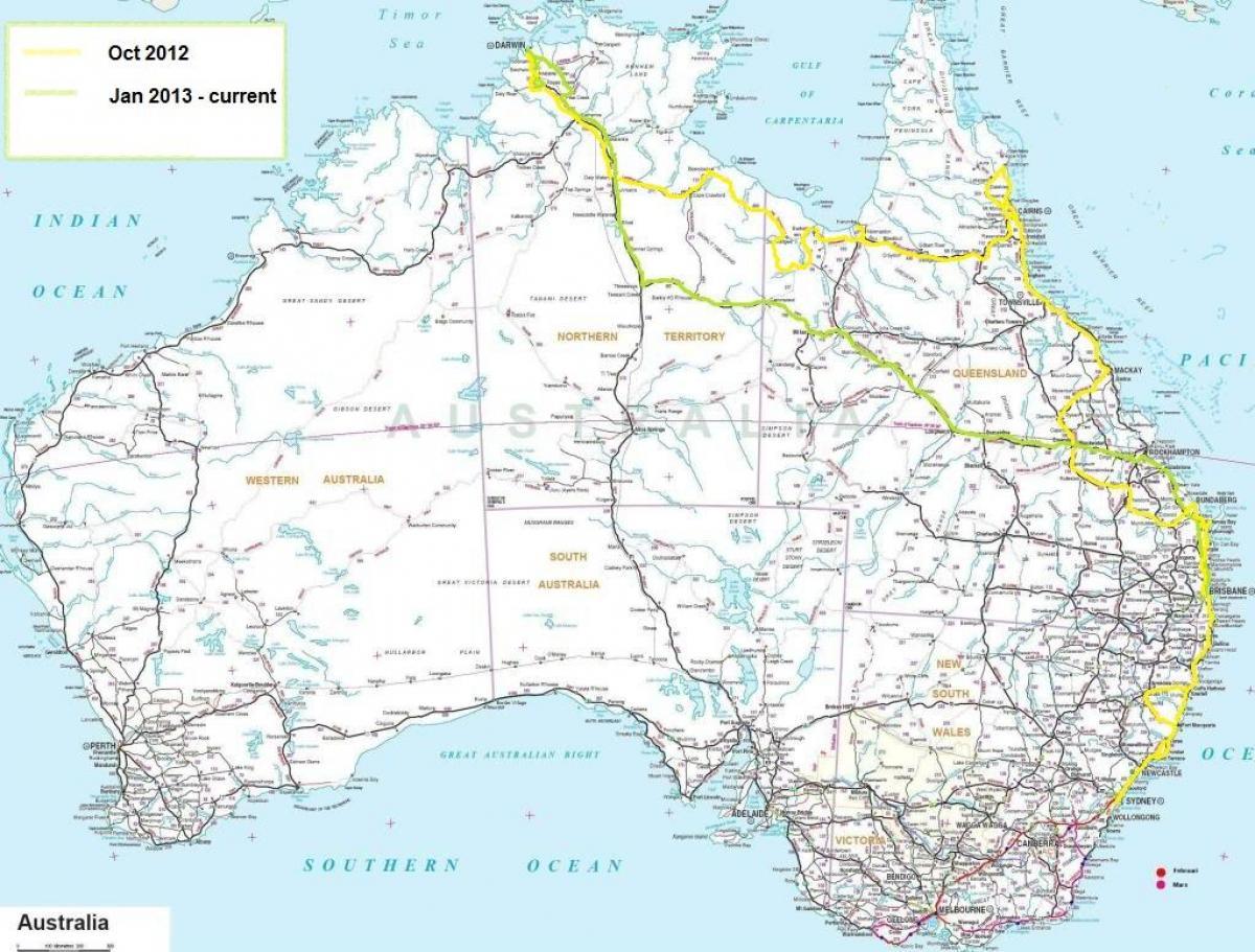 Cartina Nuova Zelanda.Mappa Stradale Di Australia Australia Cartina Stradale Australia E Nuova Zelanda Oceania